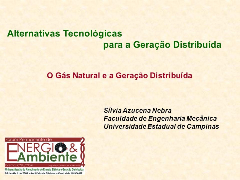 O Gás Natural e a Geração Distribuída Alternativas Tecnológicas para a Geração Distribuída Sílvia Azucena Nebra Faculdade de Engenharia Mecânica Unive