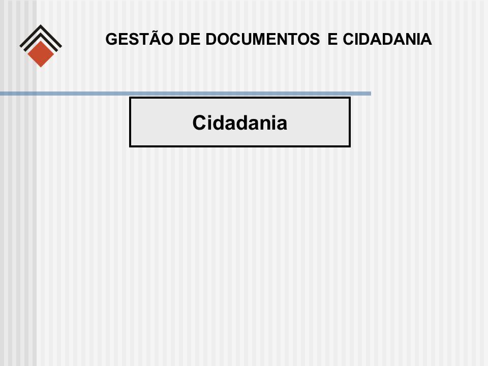 Cidadania GESTÃO DE DOCUMENTOS E CIDADANIA