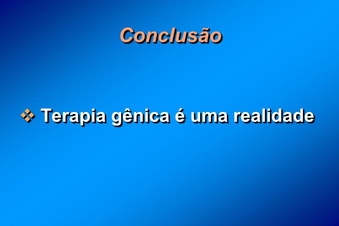 ConclusãoConclusão Terapia gênica é uma realidade Terapia gênica é uma realidade