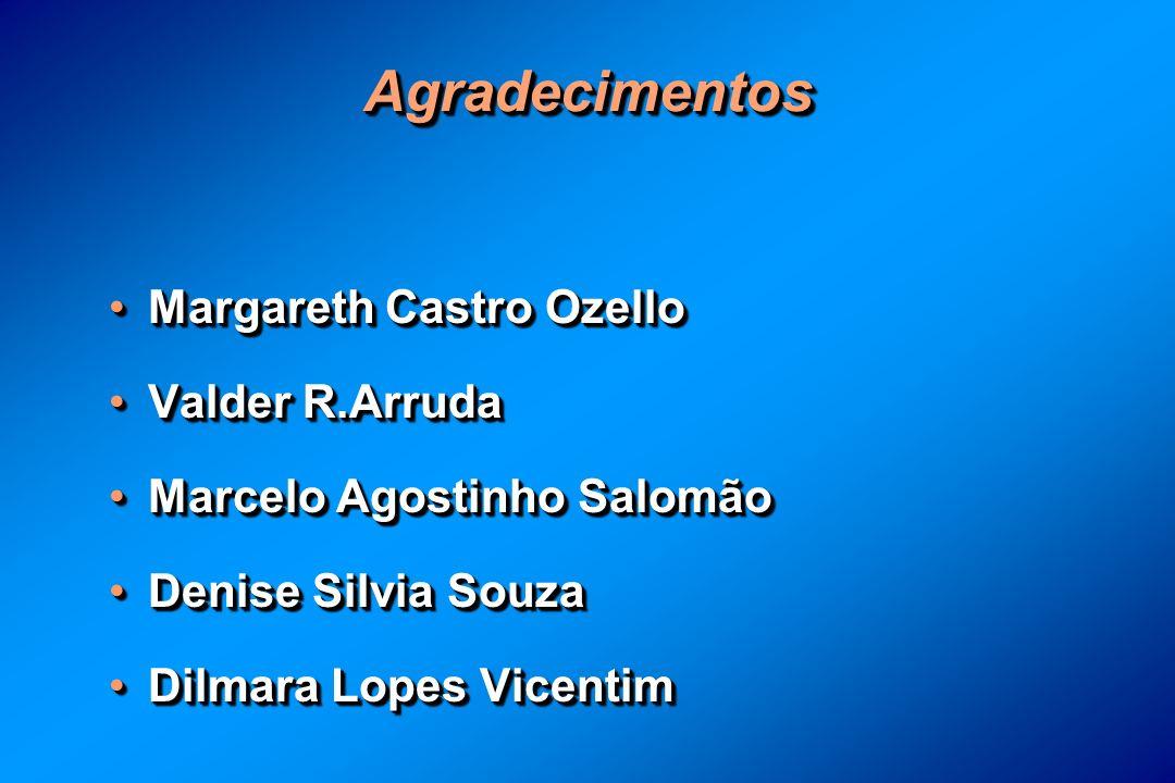 AgradecimentosAgradecimentos Margareth Castro OzelloMargareth Castro Ozello Valder R.ArrudaValder R.Arruda Marcelo Agostinho SalomãoMarcelo Agostinho