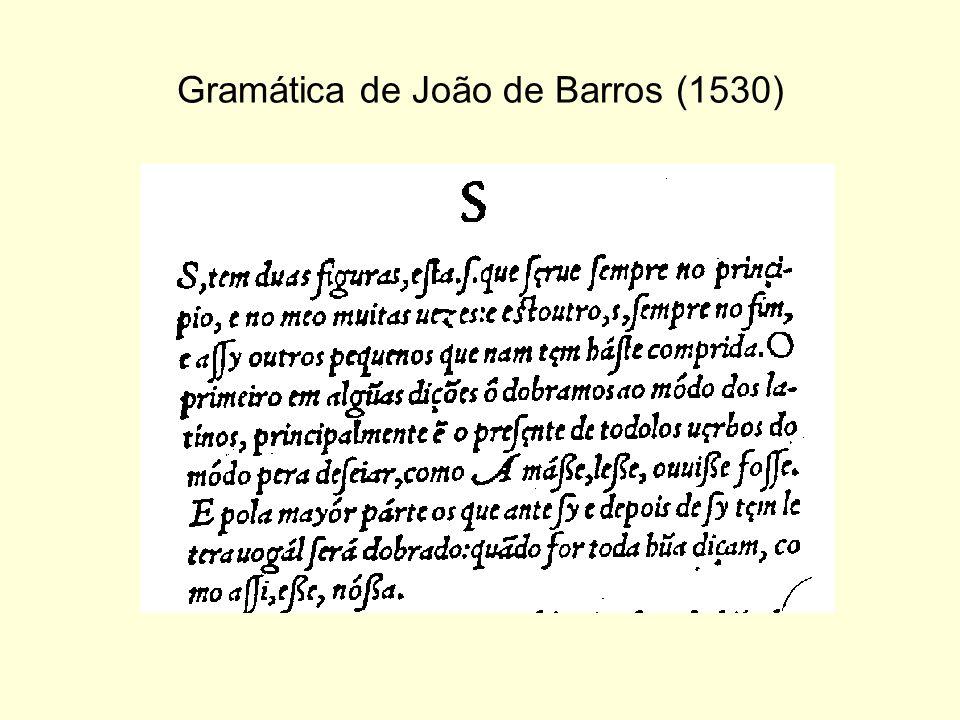 Gramática de João de Barros (1530)