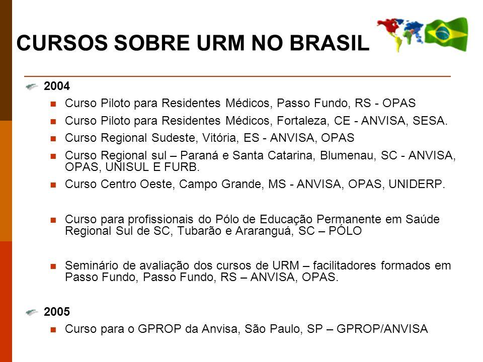 2004 Curso Piloto para Residentes Médicos, Passo Fundo, RS - OPAS Curso Piloto para Residentes Médicos, Fortaleza, CE - ANVISA, SESA.
