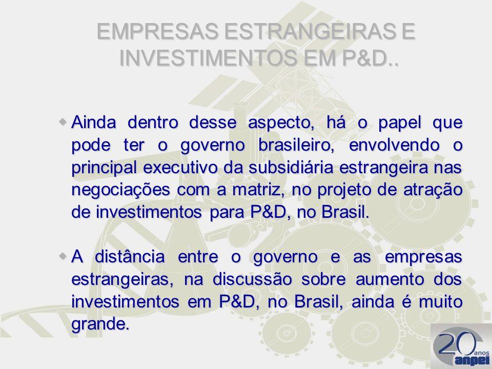 Ainda dentro desse aspecto, há o papel que pode ter o governo brasileiro, envolvendo o principal executivo da subsidiária estrangeira nas negociações