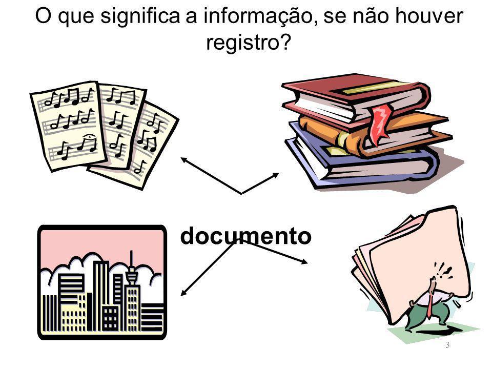 3 O que significa a informação, se não houver registro? documento