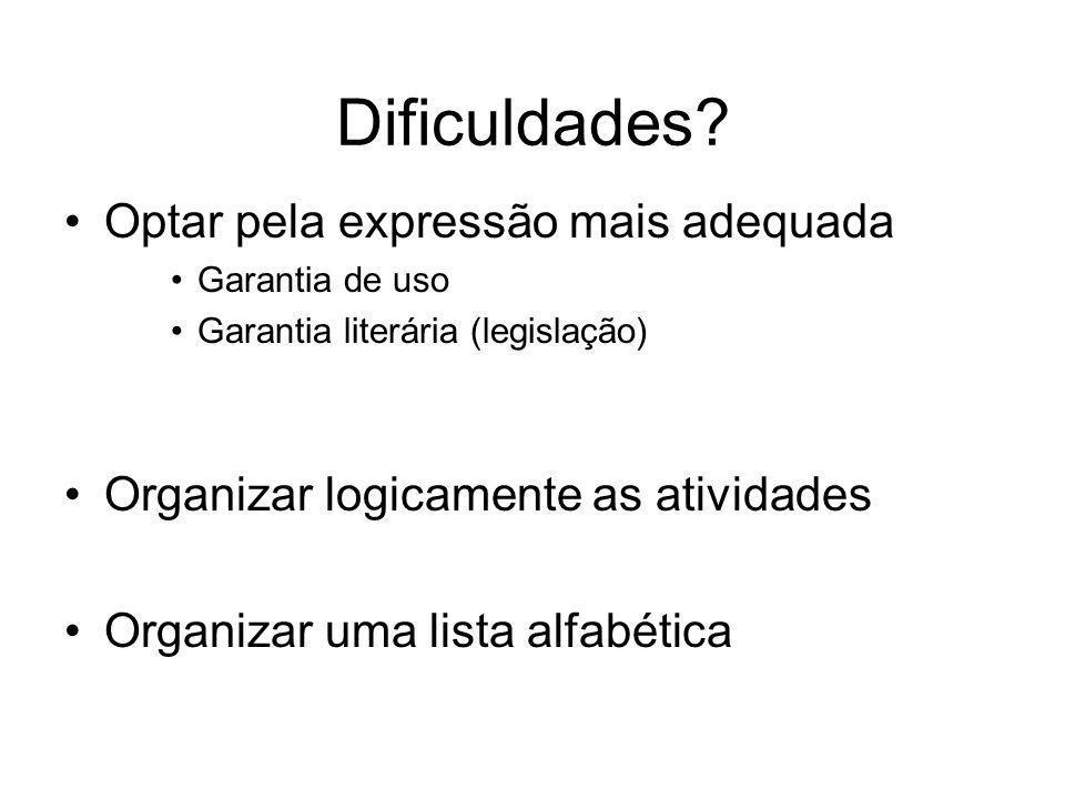 Dificuldades.
