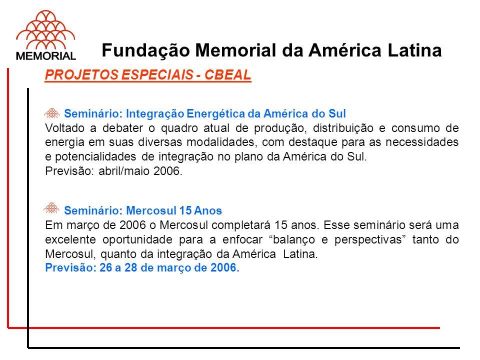 Seminário: Integração Energética da América do Sul Voltado a debater o quadro atual de produção, distribuição e consumo de energia em suas diversas mo