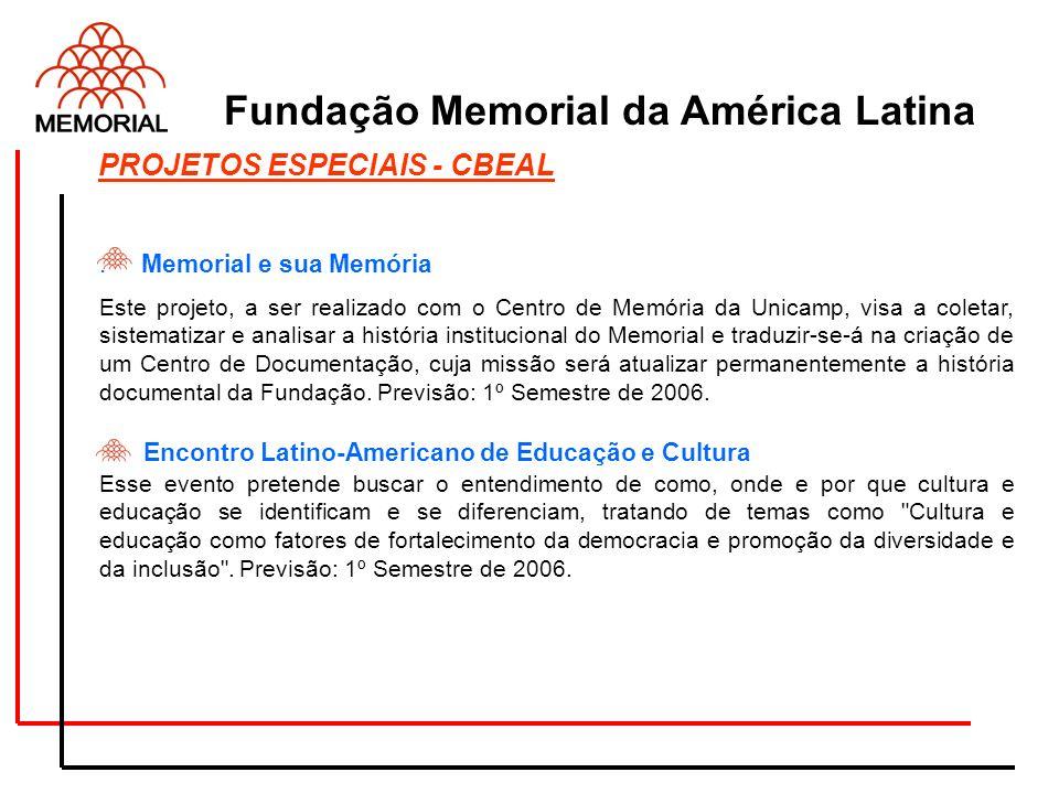 . Memorial e sua Memória Este projeto, a ser realizado com o Centro de Memória da Unicamp, visa a coletar, sistematizar e analisar a história instituc