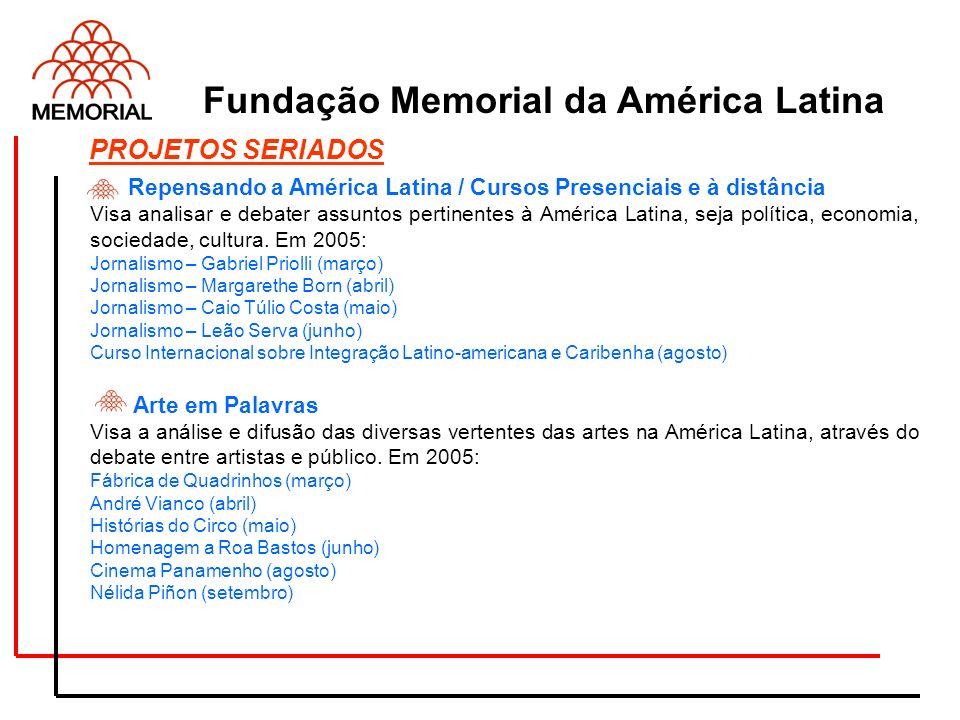 . Repensando a América Latina / Cursos Presenciais e à distância Visa analisar e debater assuntos pertinentes à América Latina, seja política, economi