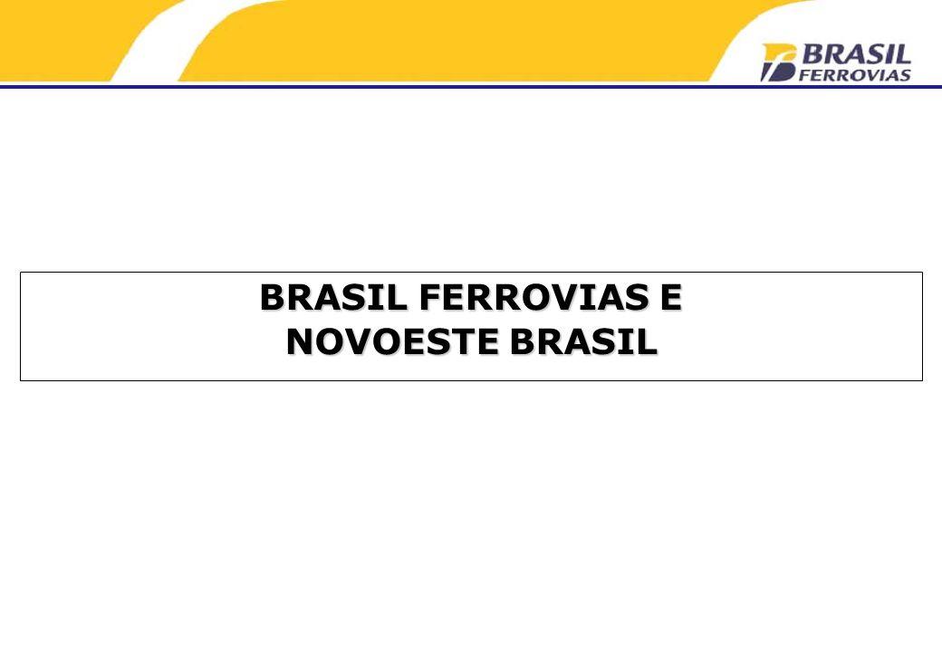 BRASIL FERROVIAS E NOVOESTE BRASIL