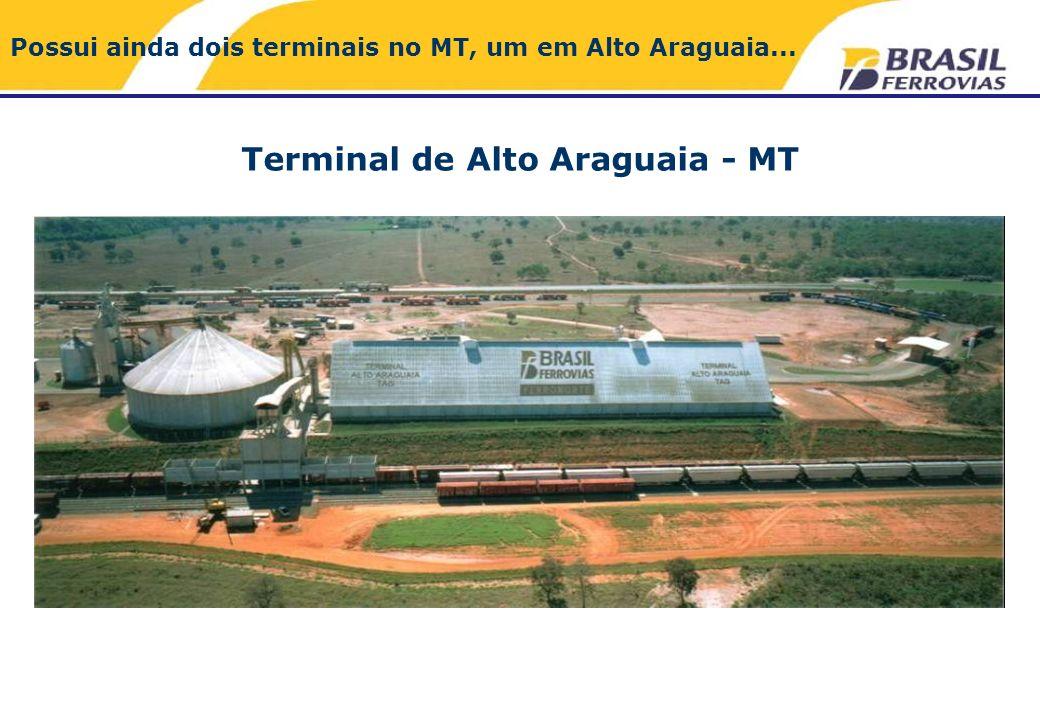 Terminal de Alto Araguaia - MT Possui ainda dois terminais no MT, um em Alto Araguaia...