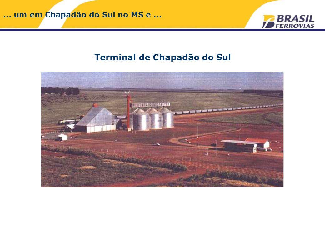 Terminal de Chapadão do Sul... um em Chapadão do Sul no MS e...