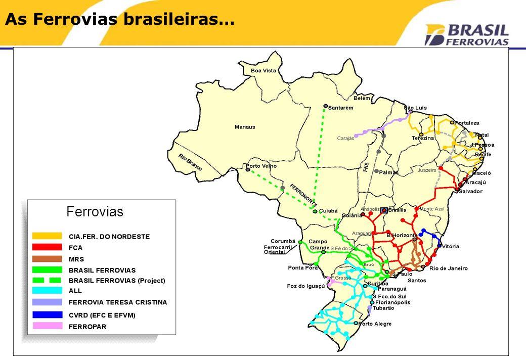 As Ferrovias brasileiras… Ferrovias