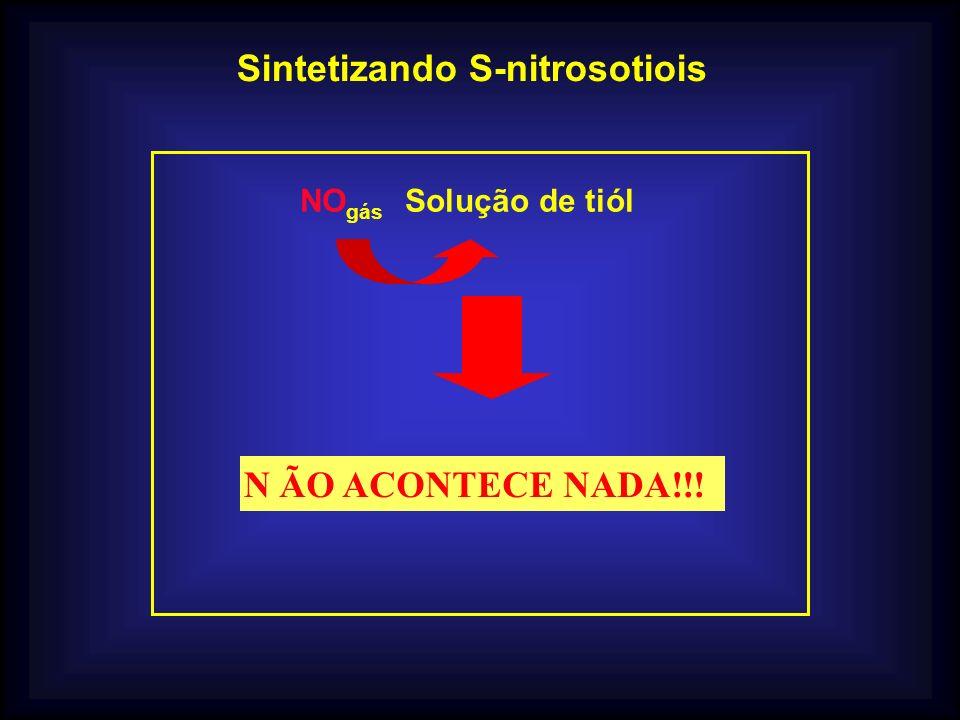 Sintetizando S-nitrosotiois NO gás Solução de tiól ÃO ACONTECE NADA!!!N