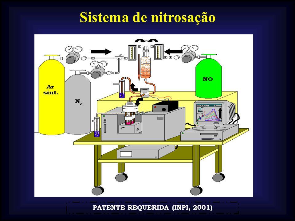 Sistema de nitrosação PATENTE REQUERIDA (INPI, 2001)