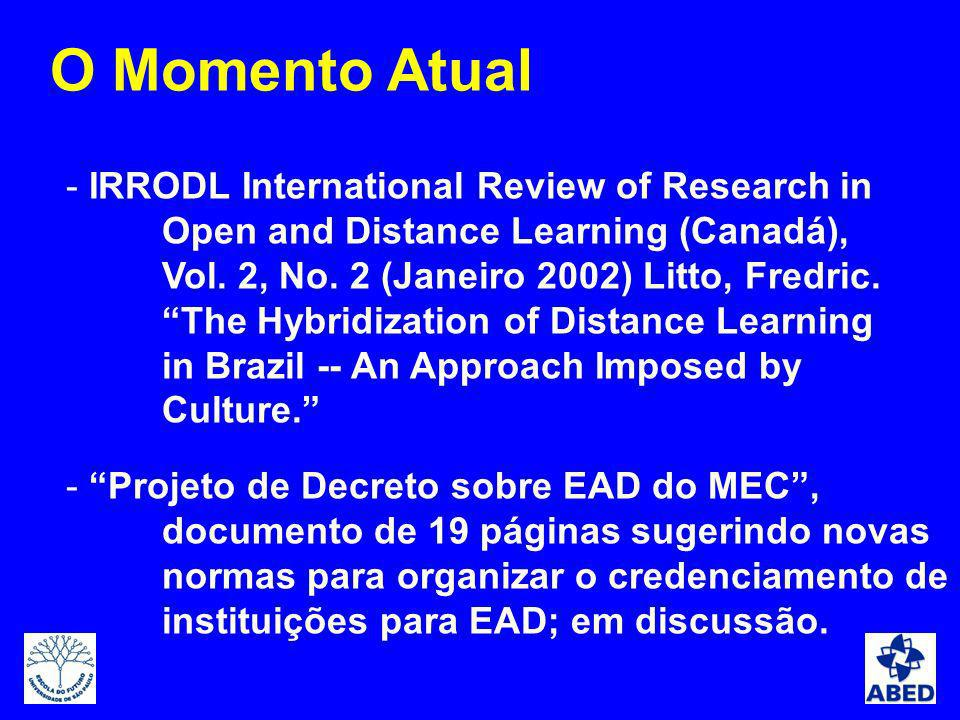 - IRRODL International Review of Research in Open and Distance Learning (Canadá), Vol.