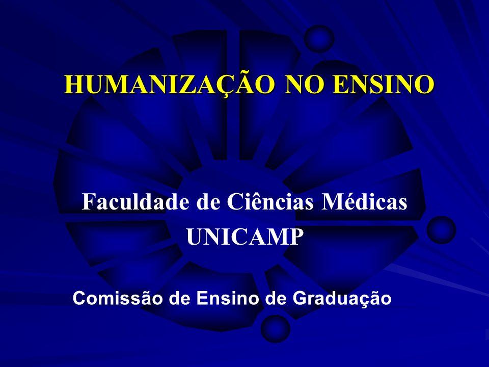 HUMANIZAÇÃO NO ENSINO Faculdade de Ciências Médicas UNICAMP Comissão de Ensino de Graduação