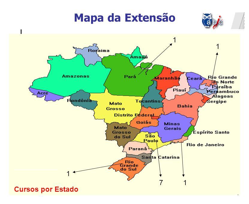 Mapa da Extensão 1 17 1 1 Cursos por Estado
