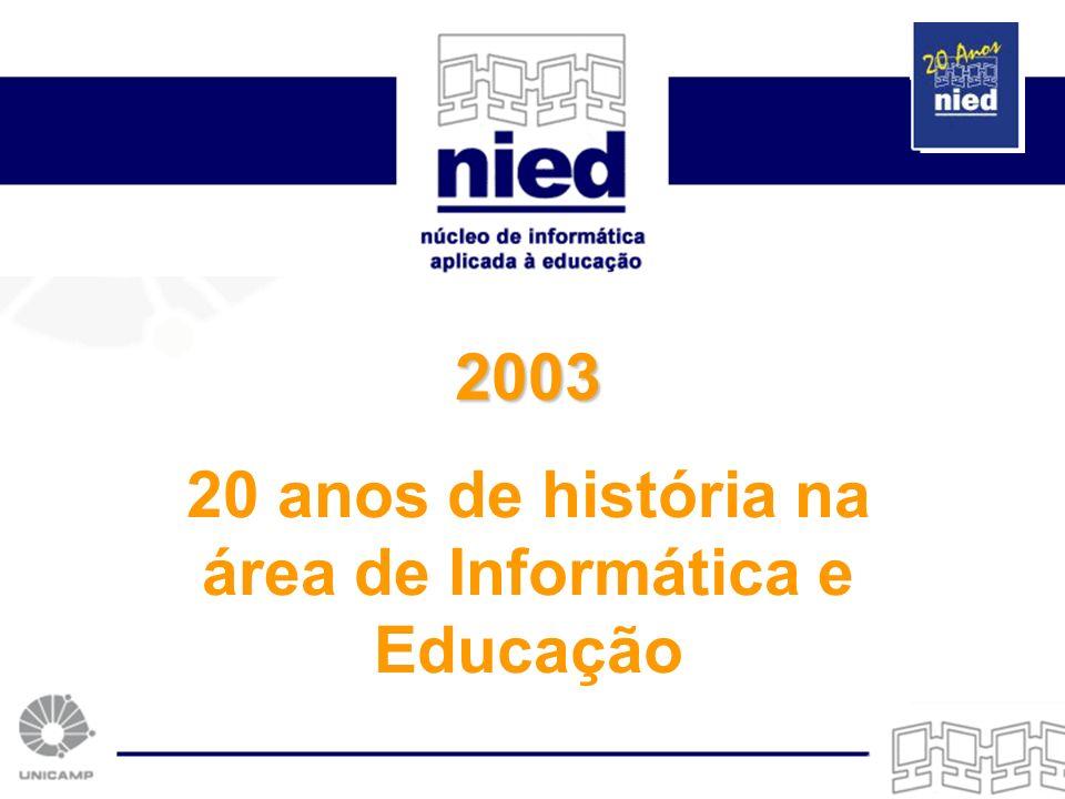 2003 20 anos de história na área de Informática e Educação