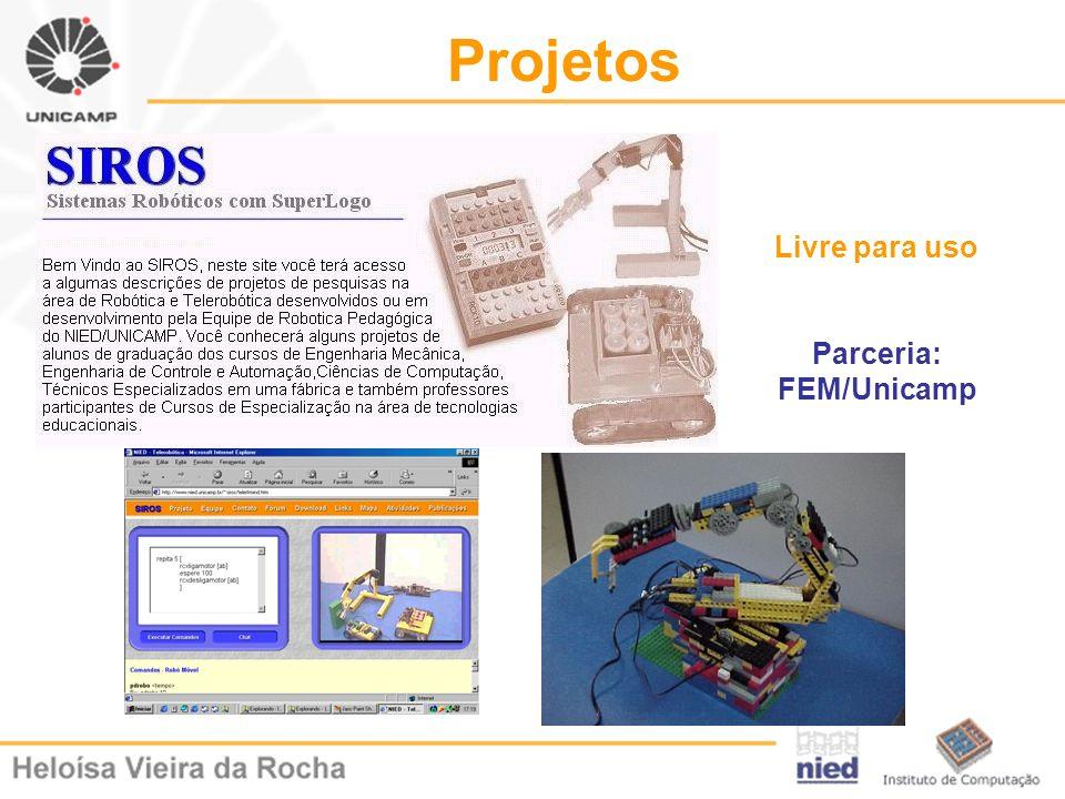 Projetos Livre para uso Parceria: FEM/Unicamp