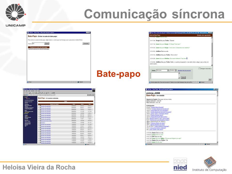 Comunicação síncrona Bate-papo