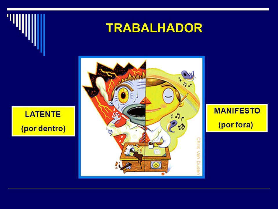 TRABALHADOR LATENTE (por dentro) MANIFESTO (por fora)