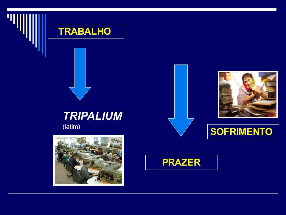 SOFRIMENTO TRABALHO TRIPALIUM (latim) PRAZER