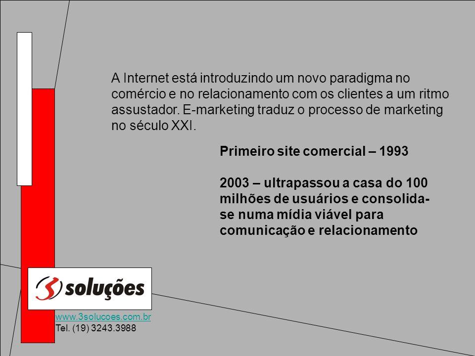 www.3solucoes.com.br Tel. (19) 3243.3988 A Internet está introduzindo um novo paradigma no comércio e no relacionamento com os clientes a um ritmo ass