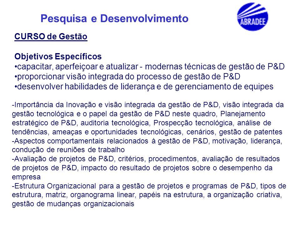 Pesquisa e Desenvolvimento PRINCIPAIS TEMAS 1.Geração Distribuída 2.