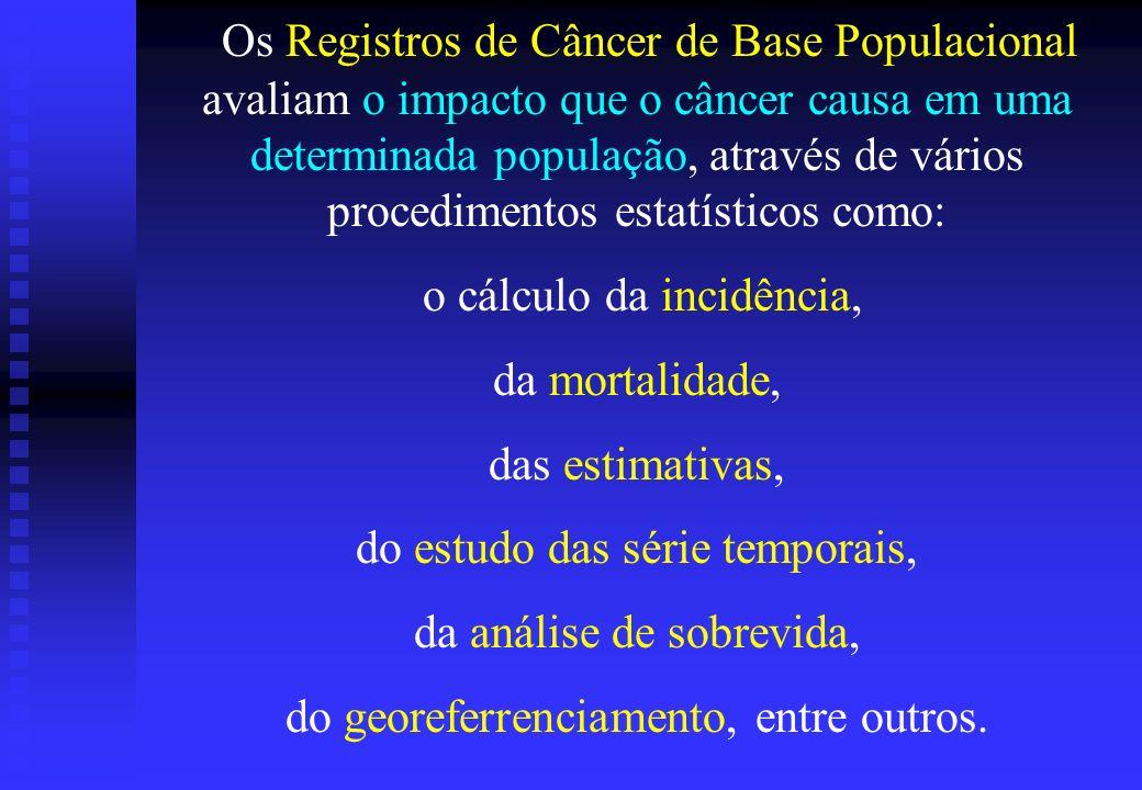 Os Registros de Câncer de Base Populacional avaliam o impacto que o câncer causa em uma determinada população, através de vários procedimentos estatís