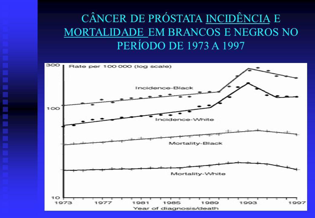 CÂNCER DE PRÓSTATA INCIDÊNCIA E MORTALIDADE EM BRANCOS E NEGROS NO PERÍODO DE 1973 A 1997