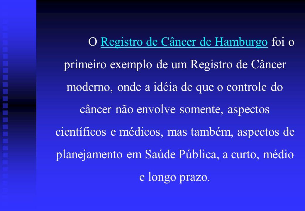 O Registro de Câncer de Hamburgo foi o primeiro exemplo de um Registro de Câncer moderno, onde a idéia de que o controle do câncer não envolve somente