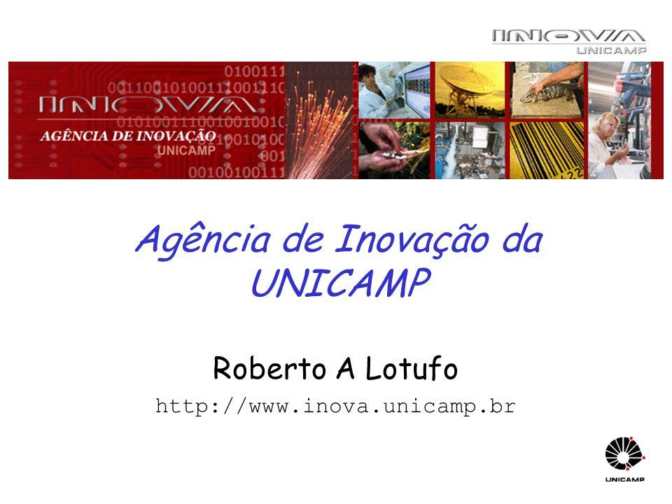 Agência de Inovação da UNICAMP Roberto A Lotufo http://www.inova.unicamp.br