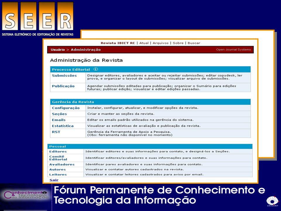 Usuários Autores Editores Profissionais da informação Comunidades e associações científicas Órgãos de fomento Público em geral