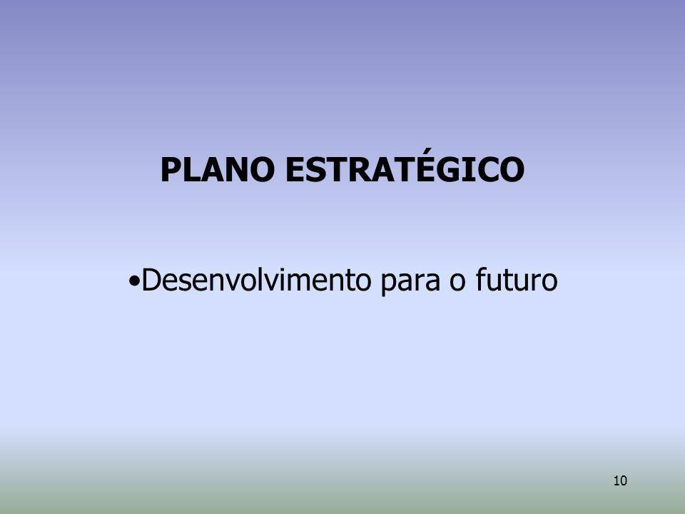 10 PLANO ESTRATÉGICO Desenvolvimento para o futuro