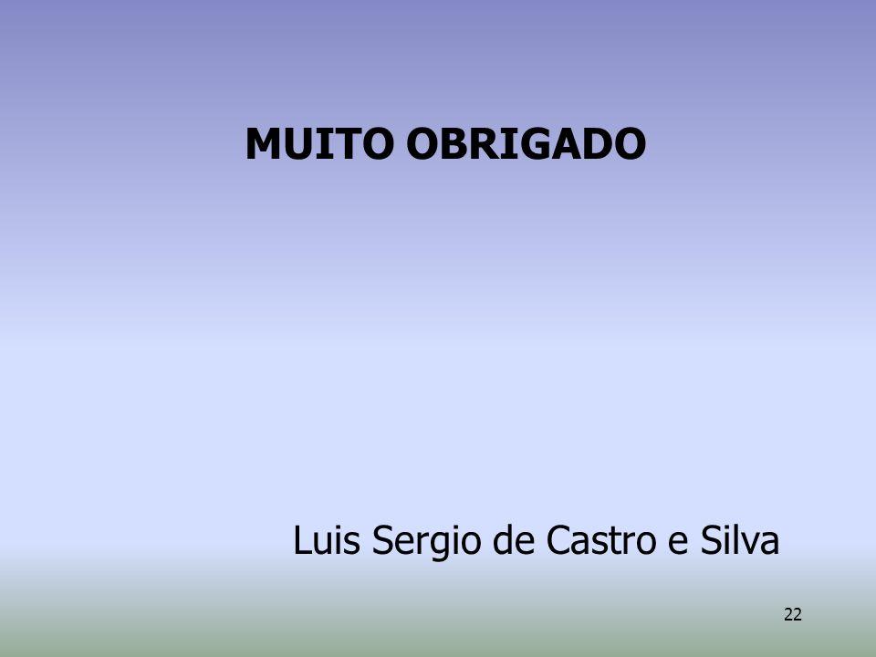 22 MUITO OBRIGADO Luis Sergio de Castro e Silva