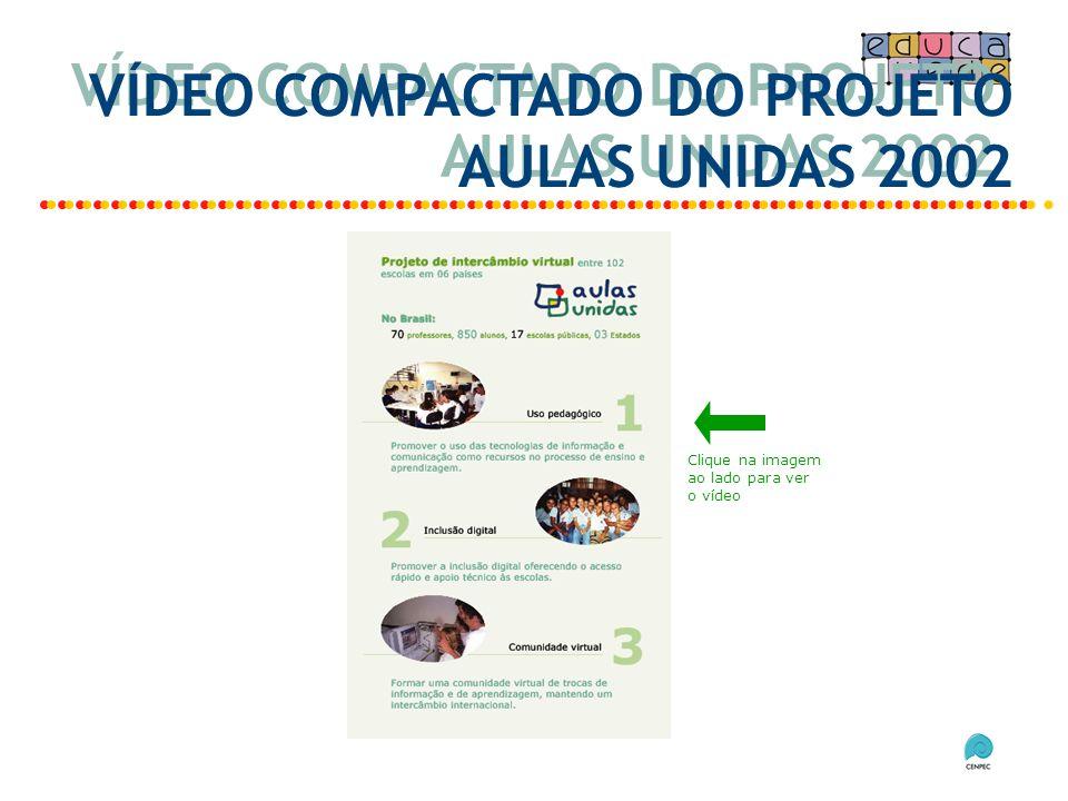VÍDEO COMPACTADO DO PROJETO AULAS UNIDAS 2002 Clique na imagem ao lado para ver o vídeo