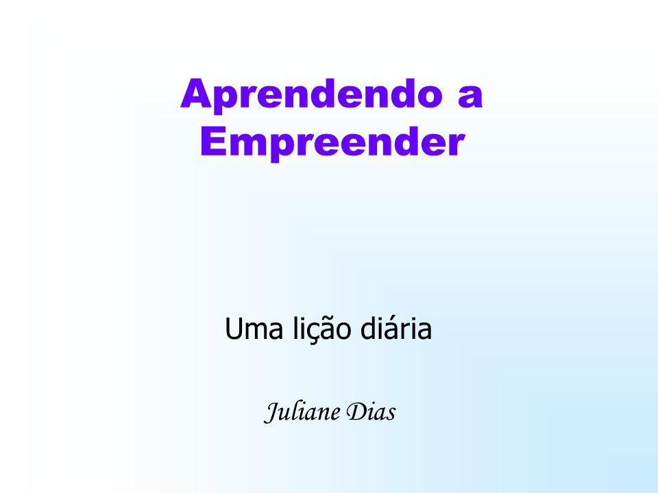 Aprendendo a Empreender Uma lição diária Juliane Dias