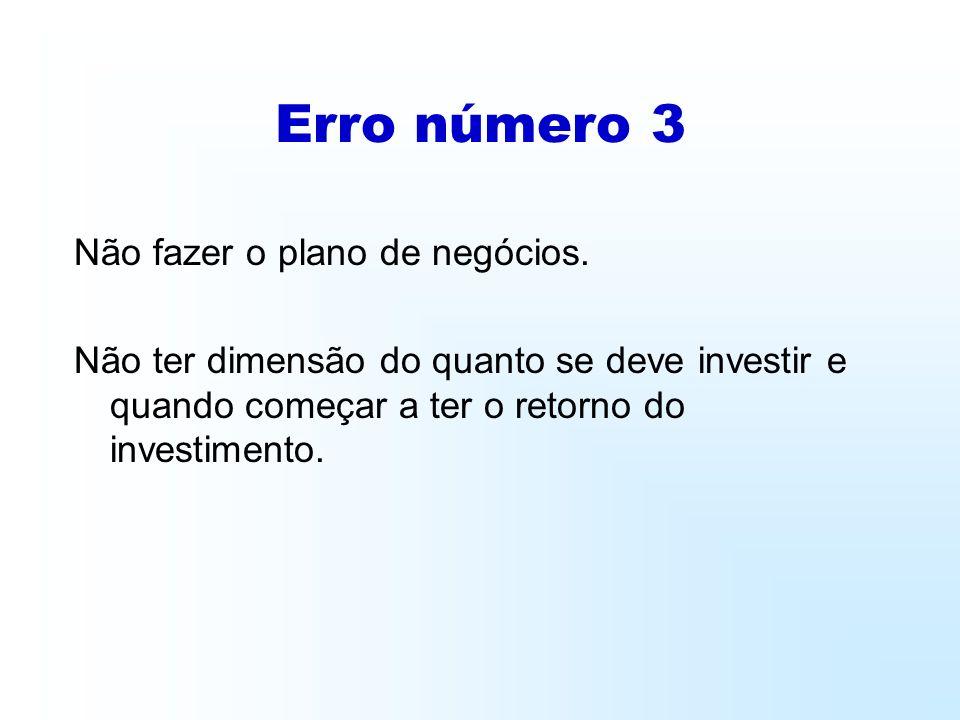 Erro número 3 Não fazer o plano de negócios.