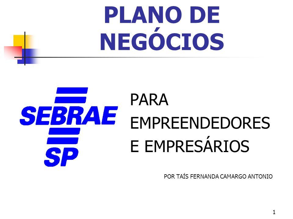1 PLANO DE NEGÓCIOS PARA EMPREENDEDORES E EMPRESÁRIOS POR TAÍS FERNANDA CAMARGO ANTONIO