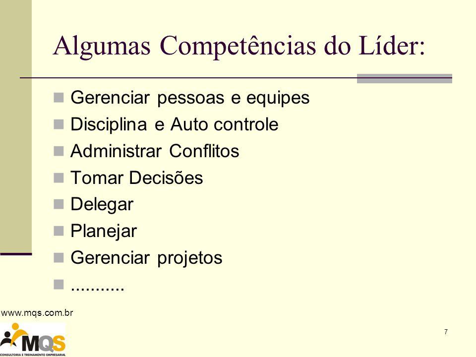 www.mqs.com.br 8 Estilos clássicos de liderança AUTOCRÁTICO DEMOCRÁTICO LIBERAL
