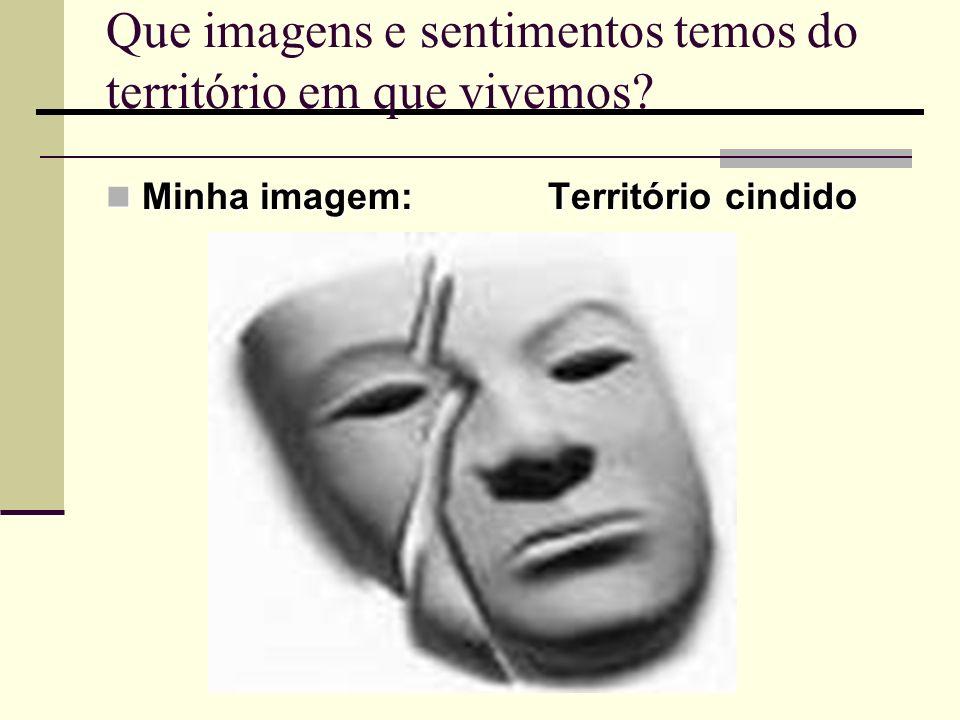 Que imagens e sentimentos temos do território em que vivemos? Minha imagem: Território cindido Minha imagem: Território cindido