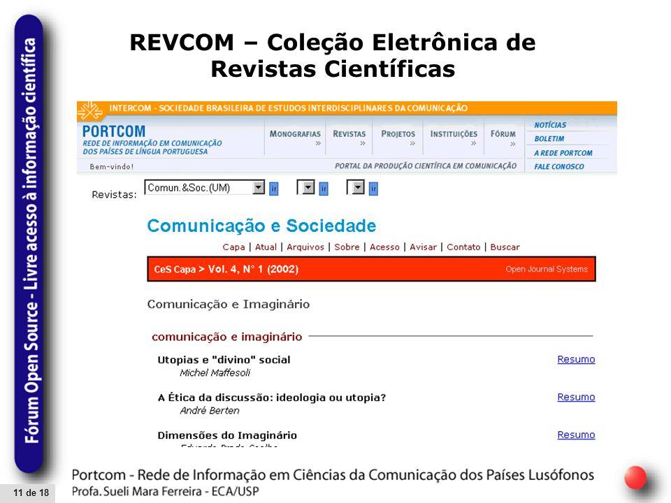 11 de 18 REVCOM – Coleção Eletrônica de Revistas Científicas