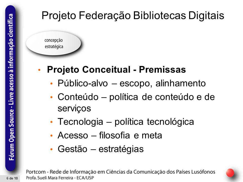 7 de 18 Novos contextos das Bibliotecas Digitais Modelo de Biblioteca Digital proposto por Feng (2001, 2002, 2004)
