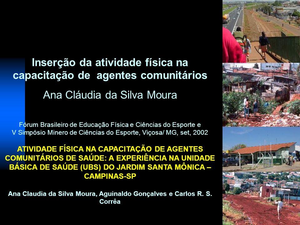 Inserção da atividade física na capacitação de agentes comunitários Ana Cláudia da Silva Moura Fórum Brasileiro de Educação Física e Ciências do Espor