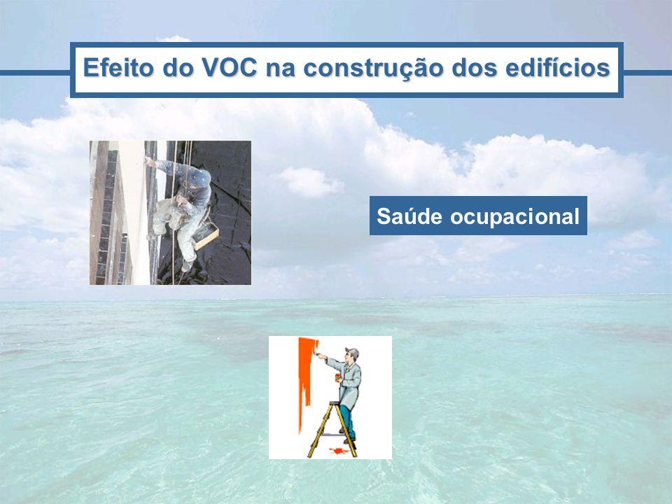 Efeito do VOC na construção dos edifícios Saúde ocupacional