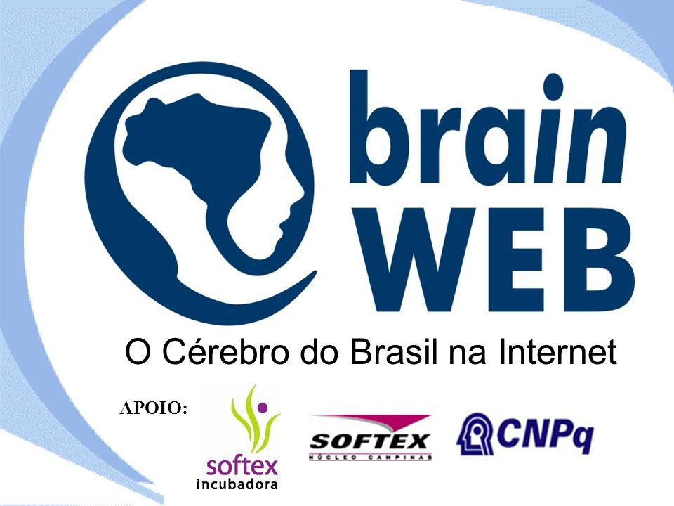 O Cérebro do Brasil na Internet APOIO: