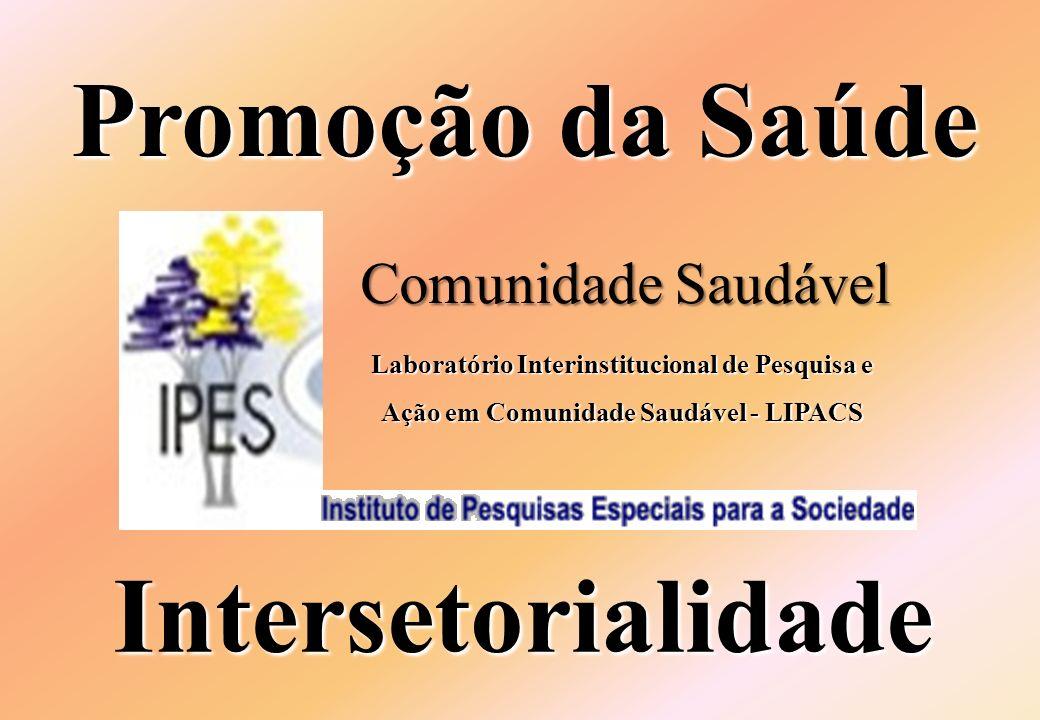 Intersetorialidade Promoção da Saúde Comunidade Saudável Laboratório Interinstitucional de Pesquisa e Ação em Comunidade Saudável - LIPACS