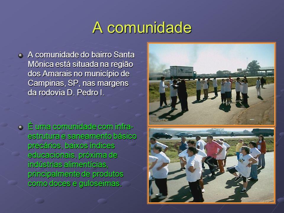 A comunidade A comunidade do bairro Santa Mônica está situada na região dos Amarais no município de Campinas, SP, nas margens da rodovia D. Pedro I. É