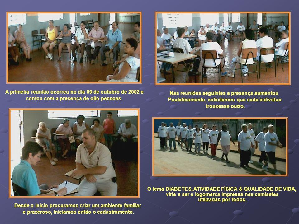 A primeira reunião ocorreu no dia 09 de outubro de 2002 e contou com a presença de oito pessoas. Nas reuniões seguintes a presença aumentou Paulatinam