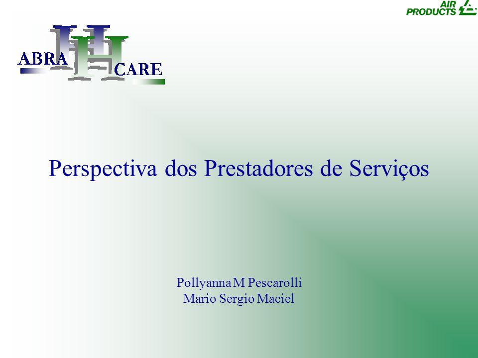 Perspectiva dos Prestadores de Serviços Pollyanna M Pescarolli Mario Sergio Maciel